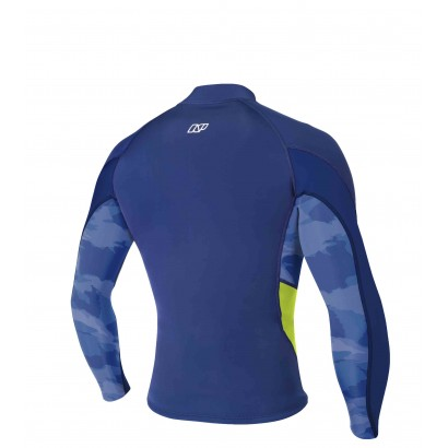 NP RISE NEO TOP L/S BLUE CAMO LIME